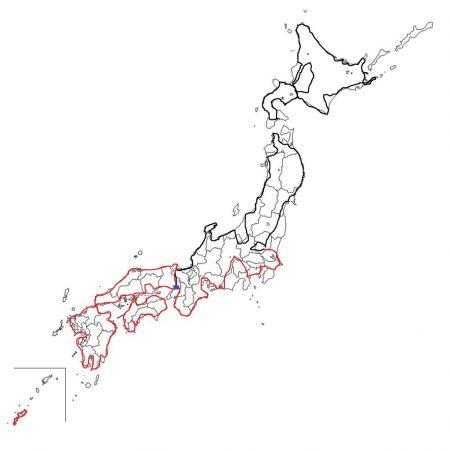 自転車日本一周地図