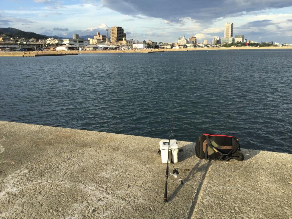須磨海岸にちょい投げキス釣り調査!「パワーイソメ」使ってみた。