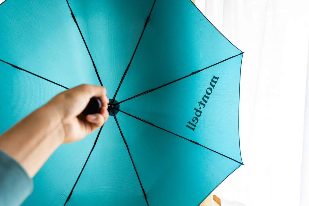 【超軽量】「mont-bell ULトレッキングアンブレラ」の折りたたみ傘使用レビュー【128g】